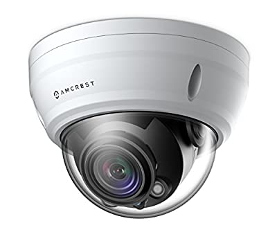 Amcrest UltraHD 2688P 1520TVL Varifocal PoE Dome Outdoor Security Camera, 4MP 2688x1520, 65ft Night Vision, Motorized Varifocal Lens 55°-104°, White (IP4M-1056EW) from Amcrest