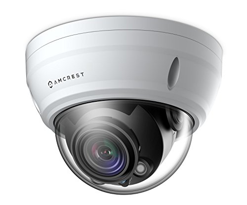 Amcrest UltraHD 2688P 1520TVL Varifocal PoE Dome Outdoor Security Camera, 4MP 2688x1520, 65ft Night Vision, Motorized Varifocal Lens 55°-104°, 3x Optical Zoom, White (IP4M-1056EW) by Amcrest