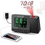 SMARTRO SC31B Digital Projection Alarm Clock with