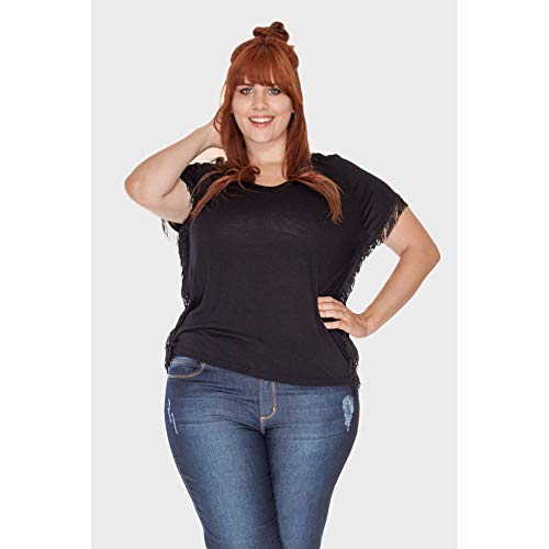 Blusa Good Moments Plus Size Preto-44/46