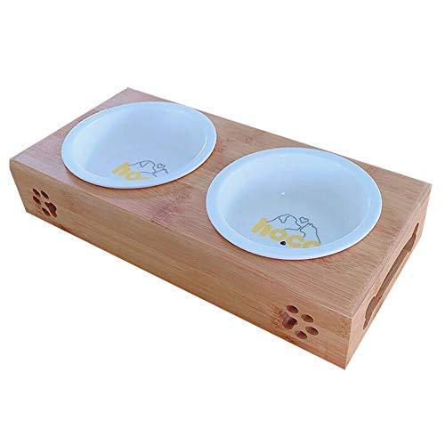 Cat Bowl Double Food Dog Pet Ceramic Rice Supplies