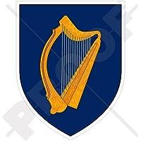 "Ireland Irish Coat of Arms Badge Crest EIRE 4"" (100mm) Vinyl Bumper-Helmet Sticker, Decal"