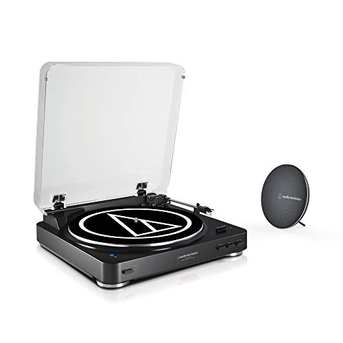 Audio-Technica Tocadiscos AT-LP60SPBT Bundle Negro con Altavoz, Bluetooth