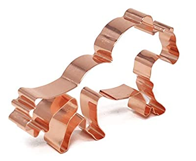 Horse Racer/Jockey on Horse - Copper Cookie Cutter