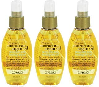 OGX Renewing Argan Oil of Morocco Weightless Healing Dry Oil, 4 Ounce (Pack of 3)