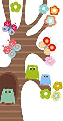 Animal Wall Decals Sweet Owls - 24 inches x 13 inches - Peel and Stick Removable Graphic