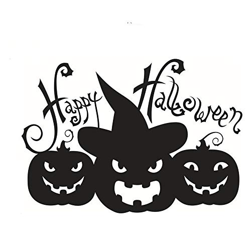 (ARAYACY Wall Stickers Personalized Pumpkin Halloween Happy Decorative Wallpaper/Remove Environmental Stickers 58 x 39cm)