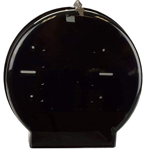 Janico 2009 Jumbo Roll Toilet Paper Dispenser - 9 Inch Single Roll, Wall Mount, Translucent Black by Janico (Image #3)