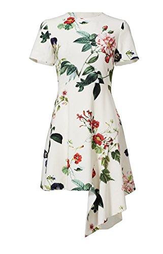 Asymmetrical Floral Prom Dress - 2