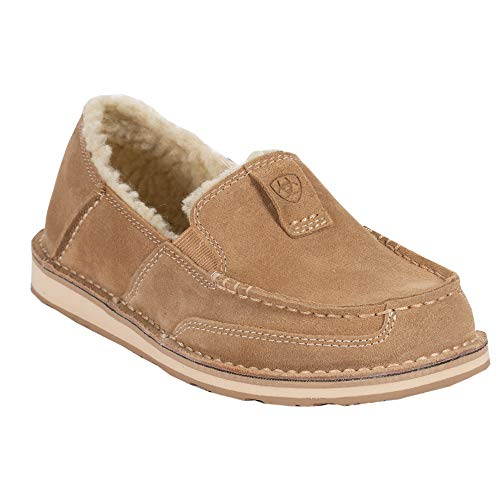 Ariat - Womens Cruiser Fleece Casual Western Shoes, Size: 6 B(M) US, Color: Light Tan Suede