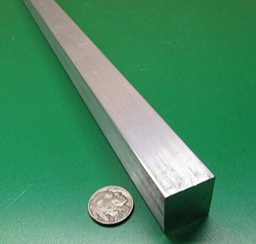 JumpingBolt 6061 T651 Aluminum Bar, 7/8'' (.875'') Thick x 1.0'' Wide x 24'' Length Material May Have Surface Scratches (Diamond 0.875')