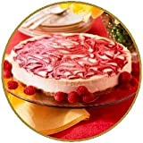 The Original Guilt-Free NY Style Strawberry Swirled Cheesecake - No Sugar Added, Gluten Free Low Calorie, Kosher Dairy Sweetened with Organic Agave Nectar