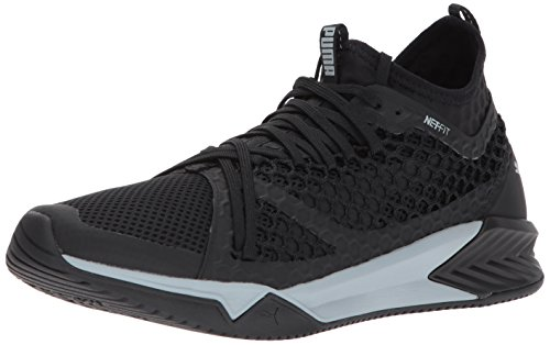 PUMA Men's Ignite XT Netfit Cross-Trainer-Shoes, Puma Black-Quarry, 9.5 M US