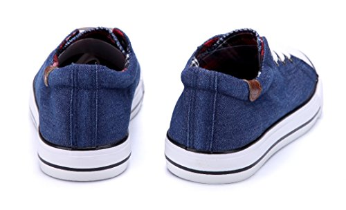 Schuhtempel24 Damen Schuhe Low Sneaker Flach Blau