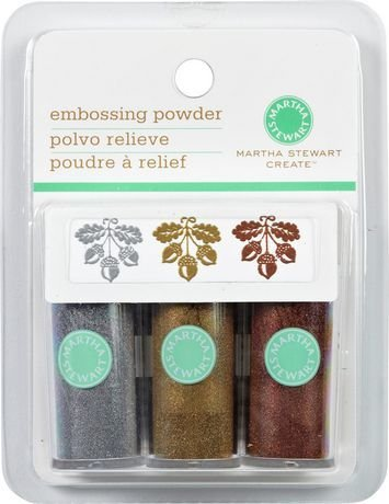 Martha Stewart Crafts - Embossing Powder -- 3 Piece Set (Metallic) Martha Stewart Embossing