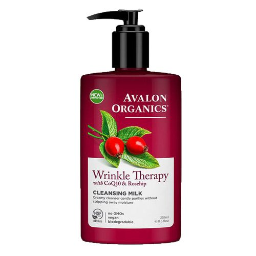 Avalon Organics Wrinkle Therapy CoQ10 Cleansing Milk, 8.50 oz (Pack of 3)