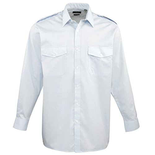 Blu Shirt Pilot Premier Sleeved Long Workwear Uomo Camicia qwwU10