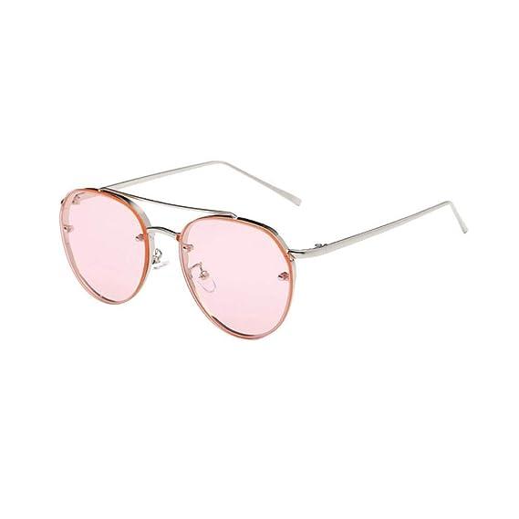 VJGOAL unisex moda Retro gafas de sol circulares gafas de ...