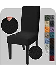 JIVINER Stretch Chair Covers Dining Chairs Set of 2 Decorative Jacquard Dining Room Chair Covers Washable Kitchen Chair Slip Covers for Dining Room, Hotel, Party