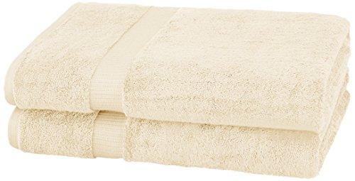 Pinzon Organic Cotton Bath Sheet Towel, Set of 2, Ivory