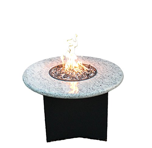 Oriflamme Gas Fire Table Propane 75,000 BTU Heat Output, Round Square Octagon (Giallo Santo, 32″ Round) For Sale