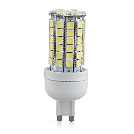 G9 8W 69 LED 3528 SMD Lampara Bombilla 6500K Luz Blanco AC 220V: Amazon.es: Hogar