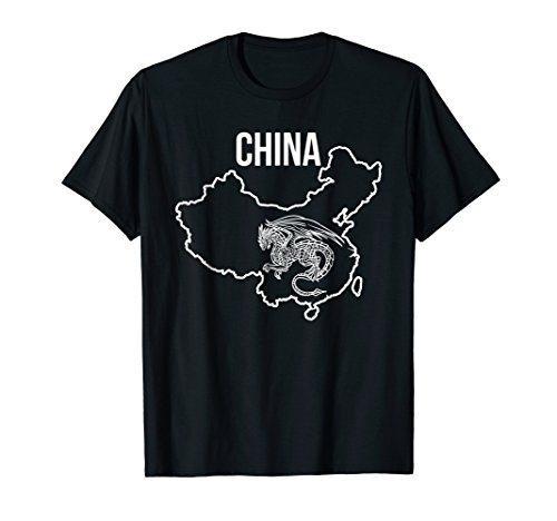 (China Country Map Dragon National Animal Cool T Shirt)