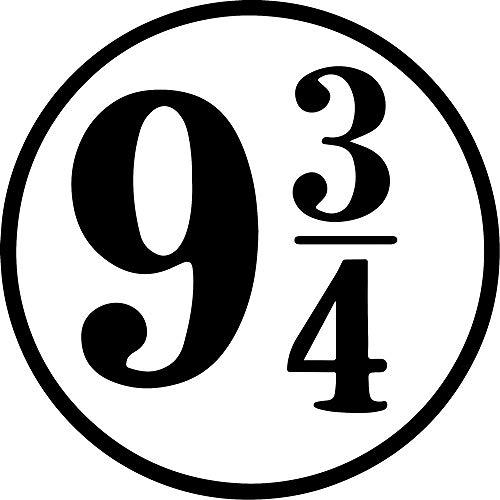 ANGDEST [Set of 2] Super Harry Platform 9 and 3 4 (Black) - Handmade - Premium Quality - Waterproof Vinyl Decal Stickers for Laptop Phone Helmet Car Window Bumper Mug Tuber Cup Door Wall Decoration
