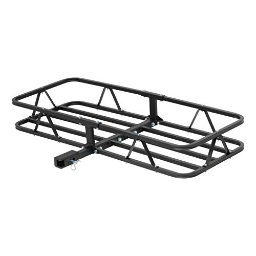 CURT 18145 Cargo Basket Hitch Trailer Hitch Cargo Carrier, 500 lbs. Capacity, 46-1/2-Inch x 17-1/2-Inch x 5-1/2-Inch, Fits 1-1/4 or 2-Inch Receiver (Best Rated Hitch Cargo Carrier)