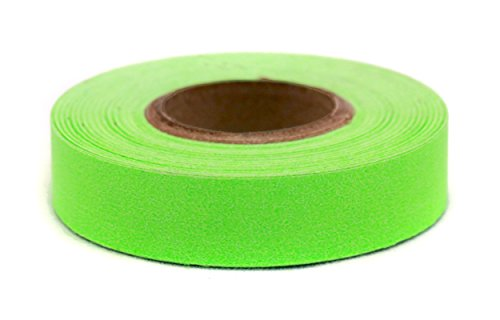 ChromaLabel 1/2 inch Color-Code Labeling Tape | 500 inch Roll (Fluorescent Green)