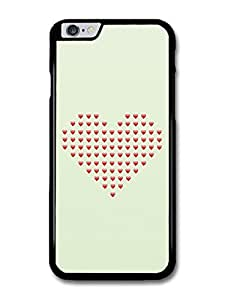 Cool Emoji Love Heart Collage Shape case for iPhone 6 Plus