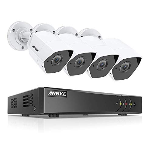 ANNKE 3MP Extreme HD Security Camera System, 8-Channel H.265 DVR and 4 3.0MP 1920 1536P Metal Casing Bullet Cameras, Ip66 Weatherproof, Customize Motion Detection, No Hard Drive Included