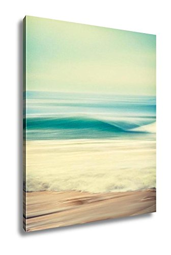 Amazon.com: Ashley Canvas Wave Blur Abstract, Wall Art Home Decor ...