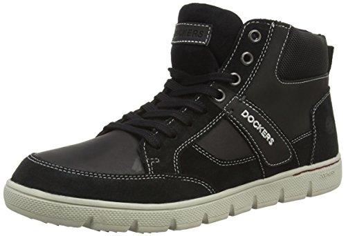 Dockers 35BJ008 - botas desert de cuero hombre negro - negro