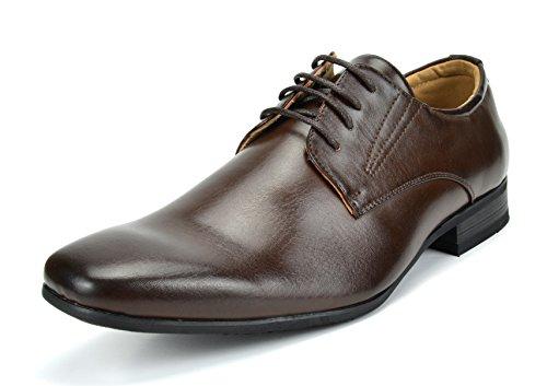 Dark Brown Oxford - Bruno Marc Men's Gordon-03 Dark Brown Leather Lined Snipe Toe Dress Oxfords Shoes - 12 M US