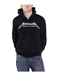 Metallica Hoodie Hardwired Album Cover band logo new Official Mens Black Zipped