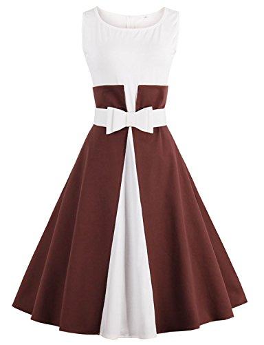 vintage-loves-retro-womens-knee-length-long-sleeve-dress-brown-xl