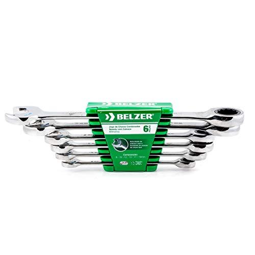 Jogo De Chaves Combinadas Belzer Verde 8-19mm