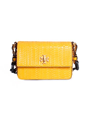 Tory Burch Kira Snake Double Strap Exotic Mini Bag in Daisy (Burch Snake Tory)