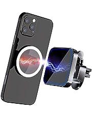 Gahwa Magnetische draadloze autolader met magneetpleister, draadloze oplader voor Mag-Safe autohouder, compatibel met iPhone 12/12 mini/12 Pro/12 Pro Max, Galaxy S20 fe/S10/Note 20/Note10