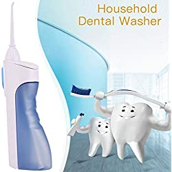JMung'S Cordless Water Flosser - Air Power Dental Water Flosser, Portable Ultra Flosser Dental Teeth Cleaning No Need Battery or Power