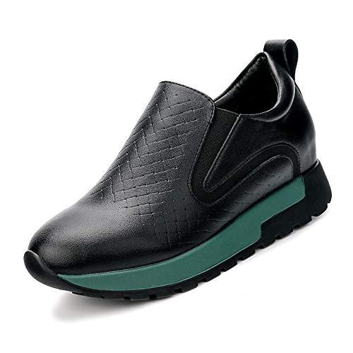 Black Bianco piatto donna Tacco Primavera Comfort PU poliuretano Scarpe ZHZNVX Autunno Nero Sneakers da pq44Of