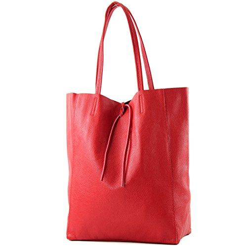 modamoda cuir T163 Farbe Rot bandoulière nur Präzise sac à Les Ital de Farbe consommateurs 6wB6Rr