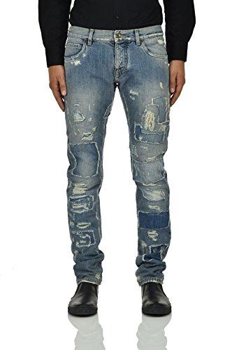 Dolce&Gabbana Gold Jeans Patches Men - Size: 46 - Color: Blue - New