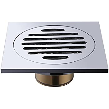 Square Shower Floor Drain Frascio Brass Bathroom Tile Insert Floor
