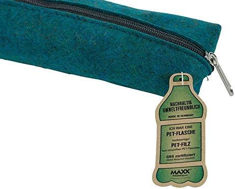 BIOZOYG greenMAXX Bolsa Fieltro para Bolígrafos Fynn Pet Tamaño M I Estuche bolígrafos I Estuche cilíndrico I Bolsa Escolar I Estuche pequeño de Fieltro de Pet Reciclado Color Petrol: Amazon.es: Hogar