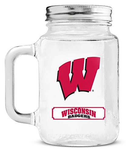 NCAA Wisconsin Badgers Mason Jar, - Malls In Outlet Wisconsin