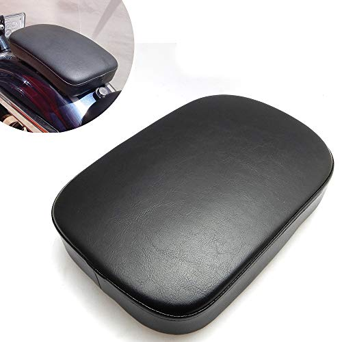 Motorcycle Pillion Pad Passenger Seat Cushion, 6 Suction Cup Rear Seat Leather Passenger Saddle for Cruiser Chopper Sportster Iron XL883 Forty-eight Dyna Street Bob Custom Bikes ()