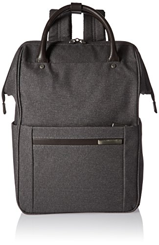 Briggs & Riley Kinzie Street, Framed Wide-Mouth Backpack, Grey by Briggs & Riley