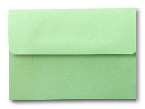 Green Pastel 100 Boxed A2 Envelopes for 4-1/8 X 5-1/2 Response Enclosure Invitation Announcement Wedding Shower Communion Christening Cards from The Envelope Gallery